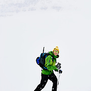 Bianca skinning in the Karlsárdalur Valley Iceland