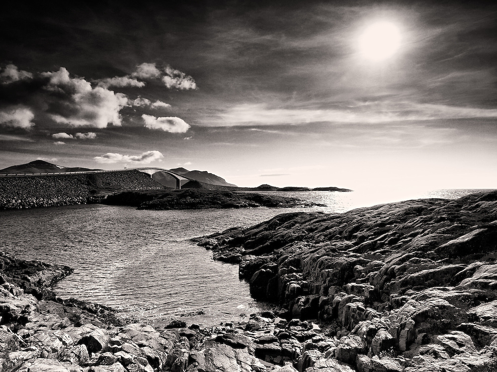 Norway - Atlantic road BW