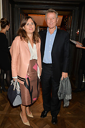 ALEXANDRA SHULMAN and DAVID JENKINS at a party to celebrate the publication of 'Let's Eat meat' by Tom Parker Bowles held at Fortnum & Mason, Piccadilly, London on 21st October 2014.