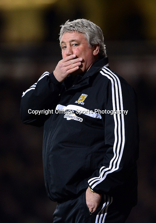 26 March 2014 - Barclays Premier League - West Ham United v Hull City - Steve Bruce, Manager of Hull City - Photo: Marc Atkins / Offside.