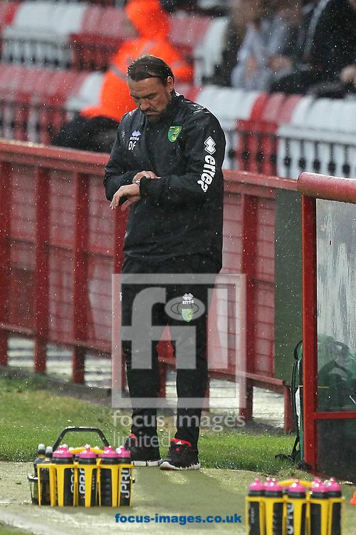 Norwich Head Coach Daniel Farke during the Pre-season Friendly match at the Lamex Stadium, Stevenage<br /> Picture by Paul Chesterton/Focus Images Ltd +44 7904 640267<br /> 11/07/2017