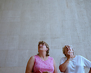 Two women gaze at the names of war dead at the Thiepval Memorial, the largest British war memorial in the world – there were more than 57,000 British casualties in a single day during the battle of the Somme.  The Thiepval Memorial to the Missing of the Somme is a major war memorial to 72,191 missing British and South African men who died in the Battles of the Somme of the First World War between 1915 and 1918 with no known grave. Designed by Sir Edwin Lutyens, the memorial was built between 1928 and 1932 and is the largest British battle memorial in the world.