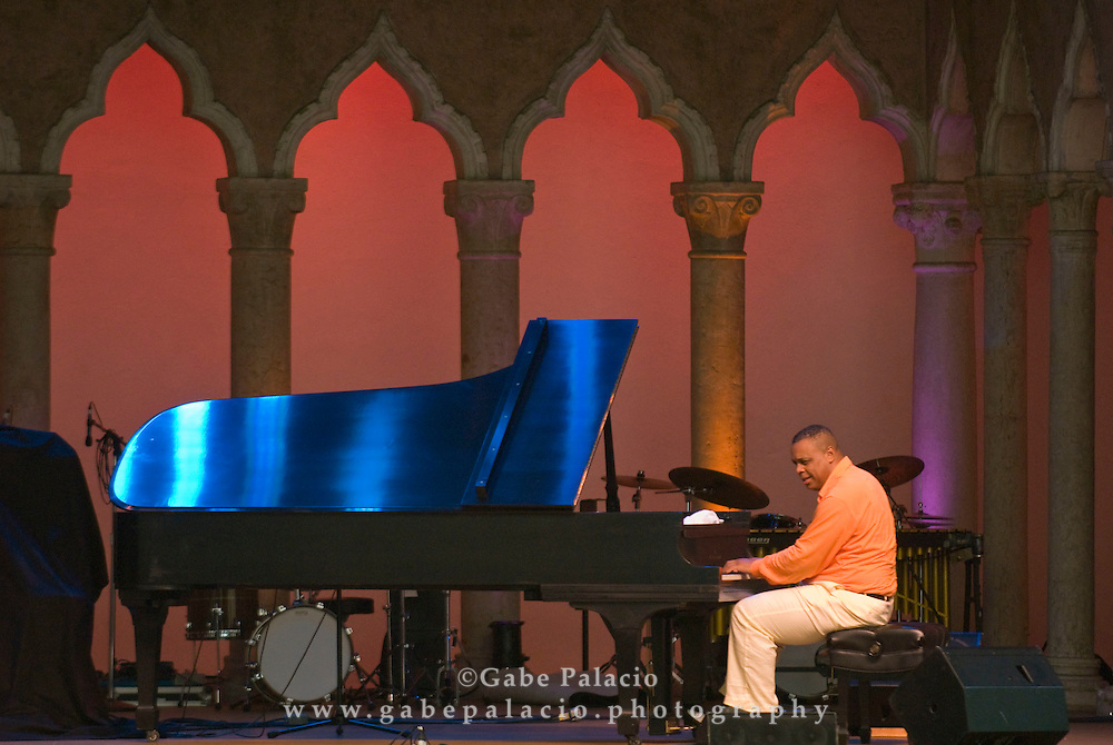Chuchito Valdes perfoming in the Cuban Piano Summit of the Jazz Festival II  in the Venetian Theater at Caramoor  in Katonah, New York on Friday, Aug 1, 2008.