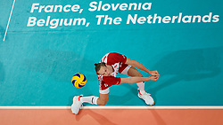 23-09-2019 NED: EC Volleyball 2019 Poland - Germany, Apeldoorn<br /> 1/4 final EC Volleyball Poland win 3-0 / Jakub Kochanowski #15 of Poland