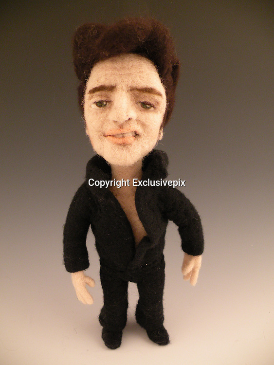 USA - 17/-8/2010 - Celebrity Sculptural needle felting by Kay Petal from Alaska has been creating amazing creations since 2007.all these creations are made by a single needle and wool.<br /> Photo Shows: Elvis<br /> (&copy;Kay Petal/Exclusivepix)