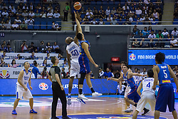November 27, 2017 - Cubao, Quezon City, Philippines - Tip off - Gilas Pilipinas versus Chinese Taipei.Gilas Pilipinas defended their home against Chinese Taipei. Game ended at 90 - 83. (Credit Image: © Noel Jose Tonido/Pacific Press via ZUMA Wire)