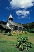 Steinkirche in der Natur, Hiva Oa, Französisch Polynesien * Stone church in nature, Hiva Oa, French Polynesia