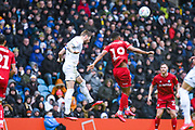 Leeds United defender Liam Cooper (6) in action during the EFL Sky Bet Championship match between Leeds United and Bristol City at Elland Road, Leeds, England on 15 February 2020.