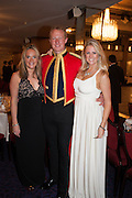 JOY BRISTOW; CHRISTOPHER MURPHY; EDWINA JAKE, The Royal Caledonian Ball 2013. The Great Room, Grosvenor House. Park lane. London. 3 May 2013.