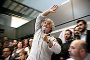 2013/04/21 Roma, Conferenza stampa del leader del Movimento 5 Stelle. Nella foto Beppe Grillo..Rome, Movimento 5 Stelle (Five stars movement) leader press conference. In the picture Beppe Grillo - © PIERPAOLO SCAVUZZO