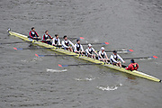 London, Great Britain.<br /> Mixed Foreign (Adjusted) winner. Tours Aviron (FR)<br /> competing in the 2016 Veterans&rsquo; Head of the River Race, Reverse Championship Course Mortlake to Putney. River Thames. Sunday  20/03/2016<br /> <br /> [Mandatory Credit: Peter SPURRIER;Intersport images]