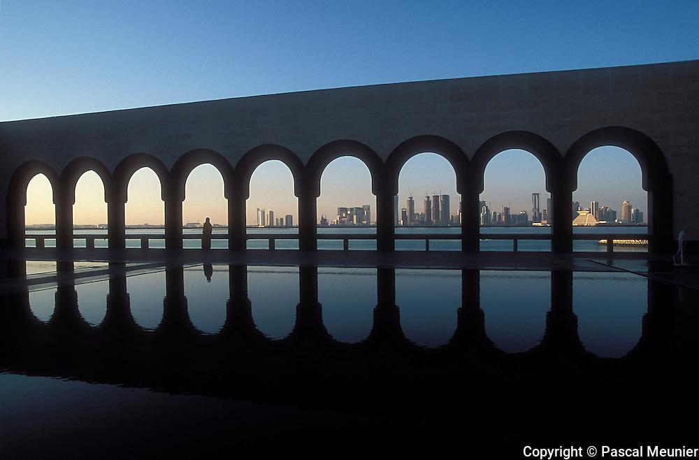 QATAR. Doha. Corniche from museum of islamic art