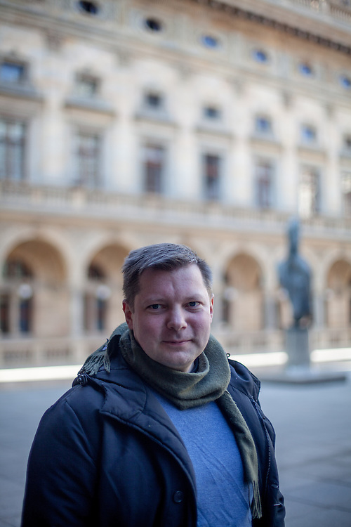 Schriftsteller Rimantas Kmita aus Litauen, Stipendiat des Literaturhaus in Prag.