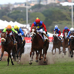 Durban, SOUTH AFRICA, 2, July 2016 - GV from the Gold Circle Golden Slipper (Grade 2) – 1400m – R600 000 during   the 2016 Vodacom Durban July ,Greyville Racecourse Durban, South Africa from June 22-26, 2016. (Photo by Steve Haag)