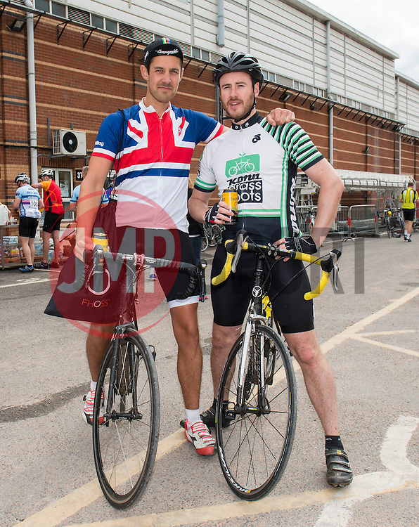 Participants from Break the Cycle travel between Bristol, Bath and Gloucestershire  - Photo mandatory by-line: Dougie Allward/JMP - Mobile: 07966 386802 - 14/06/2015 - SPORT - Cycling - Bristol - Ashton Gate - Bristol Rugby Community Foundation - Break the Cycle