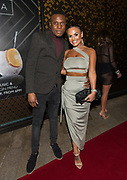 EXCLUSIVE<br /> Floyd Mayweather on his UK tour Chantelle Connelly outside with Davey Sim Playground nightclub in Liverpool.  <br /> ©Peter Powell/Exclusivepix Media