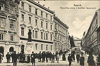 Zagreb : Mesnička ulica i Kačićev spomenik. <br /> <br /> Impresum[S. l. : S. n., 1915].<br /> Materijalni opis1 razglednica : tisak ; 8,9 x 14 cm.<br /> Vrstavizualna građa • razglednice<br /> ZbirkaGrafička zbirka NSK • Zbirka razglednica<br /> Formatimage/jpeg<br /> PredmetZagreb –– Mesnička ulica<br /> SignaturaRZG-MESN-7<br /> Obuhvat(vremenski)20. stoljeće<br /> NapomenaRazglednica je putovala 1915. godine. • Spomenik fra Andriji Kačiću Miošiću, pučkom pjesniku i fratru, rad kipara Ivana Rendića, svečano je otkriven na početku Mesničke ulice, za trajanja Jubilarne gospodarske izložbe u Zagrebu 1891. g.<br /> PravaJavno dobro<br /> Identifikatori000954889<br /> NBN.HRNBN: urn:nbn:hr:238:728767 <br /> <br /> Izvor: Digitalne zbirke Nacionalne i sveučilišne knjižnice u Zagrebu