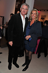 JAMES MULLEN and MEGAN LOUGHRAN at the launch Sanctuary, Britains Artists and their Studios held at Christies, 8 King Street, St.James's, London on 13th March 2012.