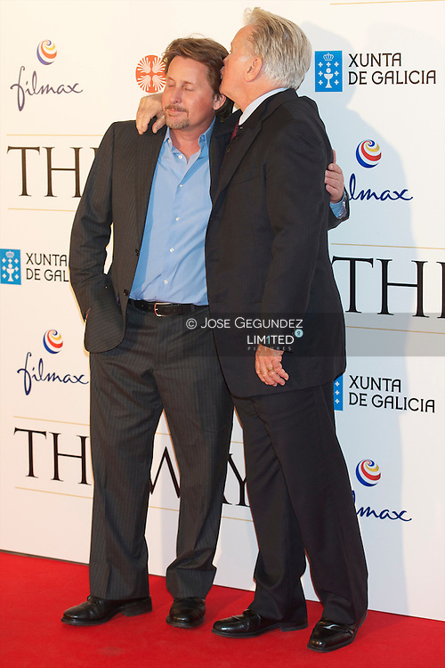 Martin Sheen and Emilio Estevez attend The Way (El Camino) Madrid Premiere at Callao Cinema in Madrid
