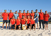 FIFA BEACH SOCCER WORLD CUP 2008 BRAZIL - SPAIN   18.07.2008 Team picture (ESP): back row (left - right, only players named): DONA, MIGUEL, Javier TORRES, JUANMA, Cristian TORRES, Roberto VALEIRO. Front row (left - right): ANTONIO, KUMAN, AMARELLE, Javi ALVAREZ, Miguel BEIRO (ESP).