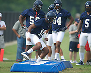 Ole Miss' C.J. Johnson at football practice in Oxford, Miss. on Saturday, August 3, 2013.