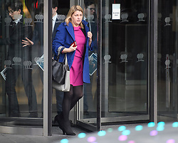 © Licensed to London News Pictures. 10/12/2018. London, UK. Former advisor to David Cameron, BARONESS LIZ SUGG leaves a Conservative Friends of Israel event in central London. Mrs May is expected to call off tomorrows withdrawal agreement vote when she speaks in the House of Commons later. Photo credit: Ben Cawthra/LNP