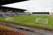 Mansfield Town's stadium ahead of the Sky Bet League 2 match between Mansfield Town and Northampton Town at the One Call Stadium, Mansfield, England on 28 March 2016. Photo by Jon Hobley.