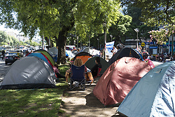 January 30, 2018 - INT.- 2018 January 30; Buenos Aires City, Argentina.- This morning, three simultaneous manifestation were held in front of the Ministry of Health and Social Development:.Camping against removal of 28 thousand social plans,.Workers of poultry company Cresta Roja in claim of 650 dismissed (after the breakdown of the company two years ago, last week was sold and 650 workers were fired).Workers of the Hospital Posadas for 122 dismissals. (Credit Image: © Julieta Ferrario via ZUMA Wire)
