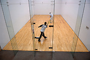 17313Inside Ping Center: Students working out;diversity