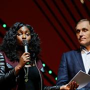 NLD/Scheveningen/20121030 - Uitreiking Talent voor Taal 2012 prijs, Zarayda Groenhart en schrijver Arthur Japin