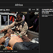 "Screengrab of ""Battle for Libya"" published in Lens Blog - New York Times"