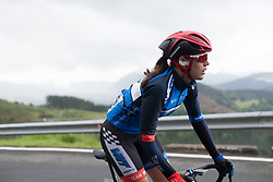Anna Badegruber (AUT) of Team WNT digs deep on the second climb of Stage 2 of the Emakumeen Bira - a 90.8 km road race, starting and finishing in Markina Xemein on May 18, 2017, in Basque Country, Spain. (Photo by Balint Hamvas/Velofocus)