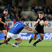 Viliamu Afatia on defense, first half.The New Zealand All Blacks defeated Manu Samoa 15's 83-0 at Eden Park, Auckland, New Zealand.  Photo by Barry Markowitz, 6/16/17