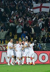 12.06.2010, Royal Bafokeng Stadium, Rustenburg, RSA, FIFA WM 2010, England (ENG) vs USA (USA), im Bild L'esultanza dei giocatori dell'Inghilterra per il gol dell'1-0 di Steven Gerrard  .England players celebrate their teammate Stenen Gerrard's 1-0 leading goal.. EXPA Pictures © 2010, PhotoCredit: EXPA/ InsideFoto/ Giorgio Perottino / SPORTIDA PHOTO AGENCY