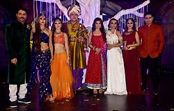 November 21, 2018 - Mumbai, India - (L-R) Actors Shakti Anand, Shilpa Saklani, Lavina Tandon, Vikrant Chaturvadey, Adaa Khan, Soni Singh, Falak Naaz and Sandeep Baswana are seen posing for a photo during the COLORS channel mystical saga 'Sitaara' show launch at the hotel JW Marriott, Juhu in Mumbai. (Credit Image: © Azhar Khan/SOPA Images via ZUMA Wire)