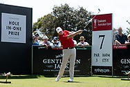 Marcus Fraser (AUS) on the seventh hole at Day 1 of The Emirates Australian Open Golf at The Lakes Golf Club in Sydney, Australia.