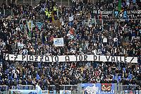 Striscione tifosi Lazio sul risultato di Roma Manchester 1-7 piazzato a Tor di Valle <br /> Roma 11-01-2015 Stadio Olimpico, Football Calcio Serie A AS Roma - Lazio . Foto Andrea Staccioli / Insidefoto