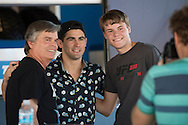 HOUSTON, TX - OCTOBER 3:  Dominick Cruz poses for a photo with fans during the UFC 192 fan village at the Toyota Center on October 3, 2015 in Houston, Texas. (Photo by Cooper Neill/Zuffa LLC/Zuffa LLC via Getty Images) *** Local Caption *** Dominick Cruz