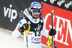 06.01.2013, Crveni Spust, Zagreb, CRO, FIS Ski Alpin Weltcup, Slalom, Herren, 2. Lauf, im Bild Manfred Moelgg (ITA) // Manfred Moelgg of Italy reacts after 2nd Run of mens Slalom of the FIS ski alpine world cup at Crveni Spust course in Zagreb, Croatia on 2013/01/06. EXPA Pictures © 2013, PhotoCredit: EXPA/ Pixsell/ Zeljko Lukunic..***** ATTENTION - for AUT, SLO, SUI, ITA, FRA only *****