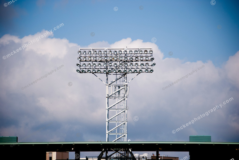 The lights at the Fenway Park, Boston Red Sox