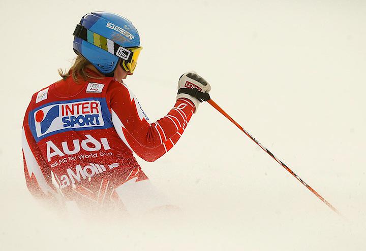 08121301 ESQUI: AUDI FIS SKI WORLD CUP. COPA DEL MON DE ESQUI? 2008/2009. LA GUANYADORA TANJA POUTIAINEN. 13.12.08. LA MOLINA. ESPORTS. FOTO TONI VILCHES/CLICK ART FOTO AVUI.