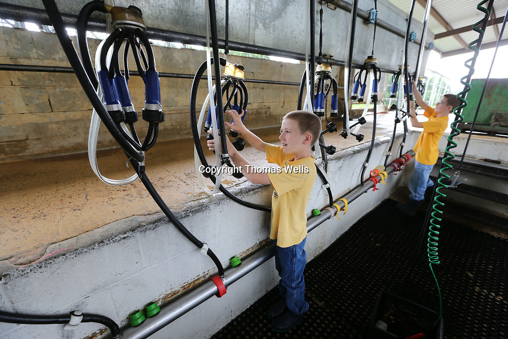 Lee Taylor, 8, left, and his brother, Carl,