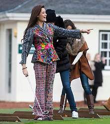 Miss Guatemala Lourdes FIGUEROA..The Miss World participants play golf at the world famous Gleneagles Hotel, host of The Ryder Cup 2014..MISS WORLD 2011 VISITS SCOTLAND..Pic © Michael Schofield.