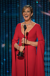 March 4, 2018 - Hollywood, California, U.S. - Allison Janney accepts the Oscar for Performance by an Actress in a Supporting Role, for her role in I, Tonya during the live ABC Telecast of The 90th Oscars at the Dolby Theatre in Hollywood. (Credit Image: © Aaron Poole/AMPAS via ZUMA Wire/ZUMAPRESS.com)