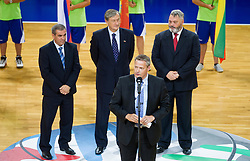Olafur Rafnsson of FIBA Europe during Opening ceremony at the U20 Men European Championship in Slovenia, on July 12, 2012 in Domzale, Slovenia.  (Photo by Vid Ponikvar / Sportida.com)