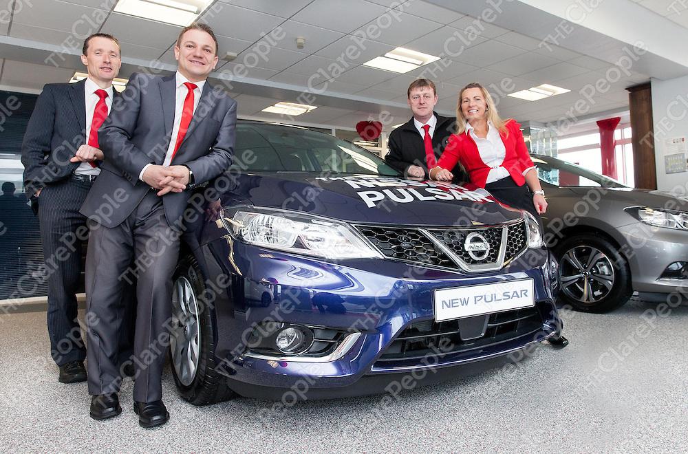 Joe, Marek, Paul & Tricia with the new Nissan Pulsar