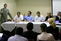 Reunião do conselho político da coligação Rio Grande Afirmativo, na manhã desta quarta-feira.FOTO: Jefferson Bernardes/Preview.com