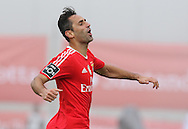 Benfica's player Jonas celebrates after scoring a goal, during the Portuguese First League football match Nacional vs Benfica held at Madeira Stadium, Funchal, Portugal, 11 January, 2016.  LUSA / GREGORIO CUNHA