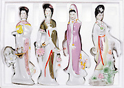 Chinese porcelain figurines in fitted styrofoam package