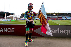 A Harlequins fan - Mandatory by-line: Robbie Stephenson/JMP - 16/02/2019 - RUGBY - Twickenham Stoop - London, England - Harlequins v Worcester Warriors - Gallagher Premiership Rugby